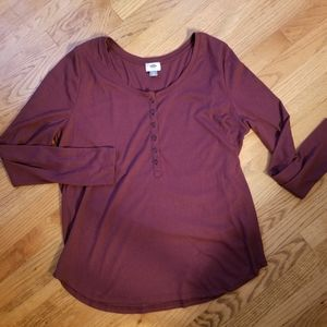 Old Navy Long Sleeve Shirt (Burgundy)